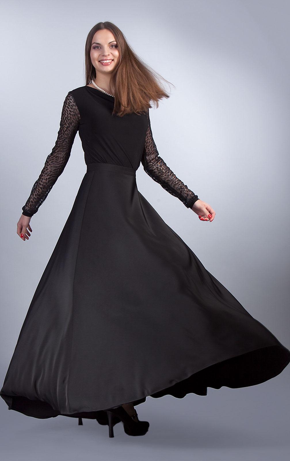 C чем носить юбку плиссе в пол