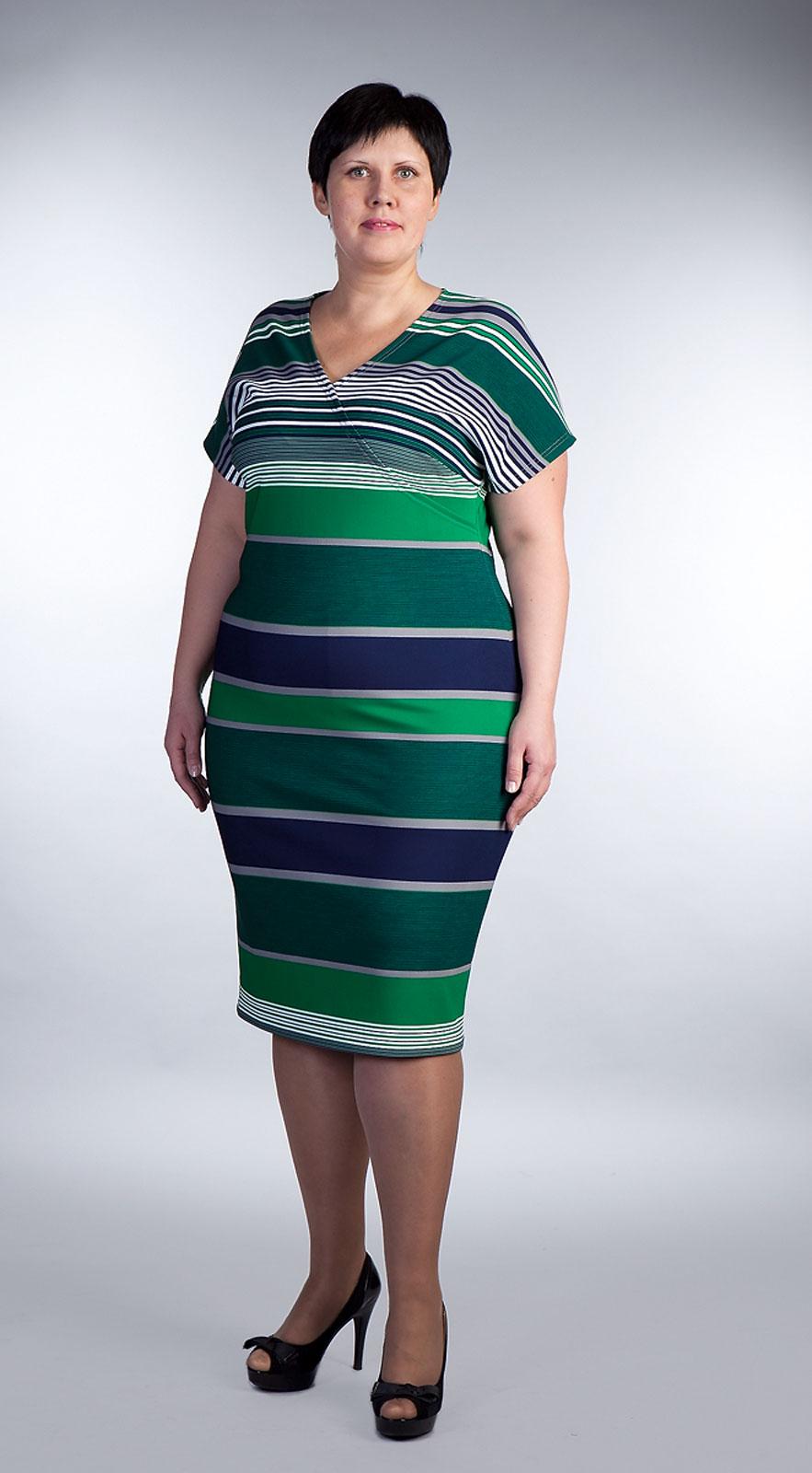 Купить Трикотажное Платье Большого Размера
