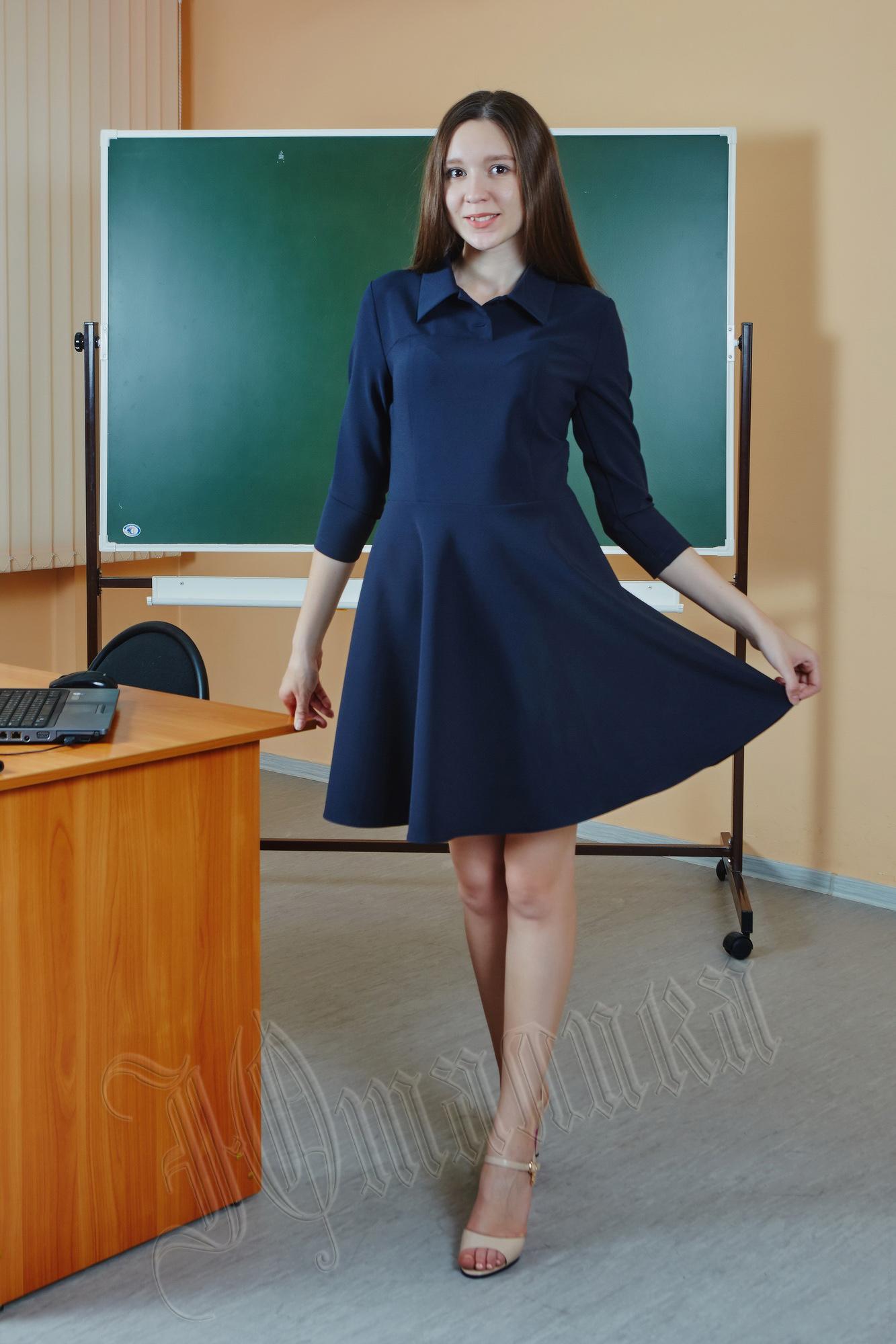 Школьное платье для старшеклассницы