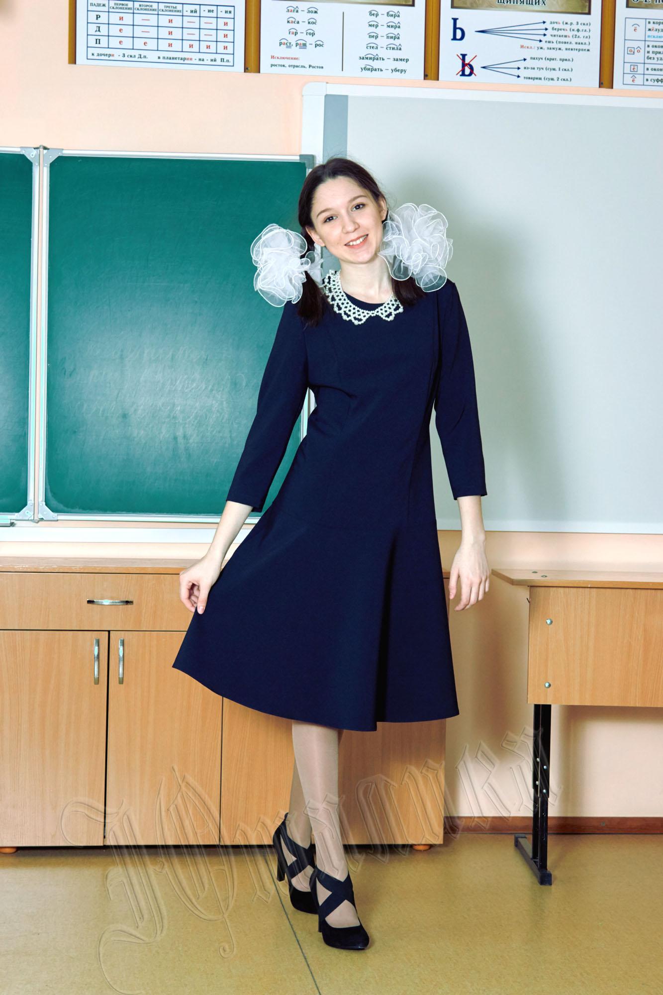 Школьные платья для старшеклассниц 28